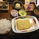 いけす酒場 ぴち天 - 出し巻定食(950円なり)