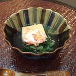 おもてなし茶屋 咲扇 - 蟹とごま豆腐のくず寄せ