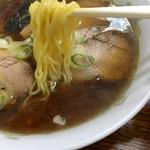 清和亭 - チャーシューメン 麺アップ