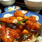 桃林 - 酢豚セット(1,100円)