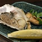 う越貞 - 牡蠣の取り合わせ