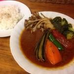 スープカレー カムイ - ポーク野菜+マイタケ