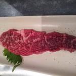 丸福 - 最初に出てくるステーキ