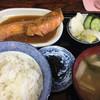てんぷらすさき - 料理写真:Bランチ ¥700。煮魚サケと海苔。