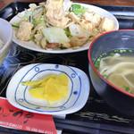 お食事処かよう - 豆腐チャンプルー定食 ¥600
