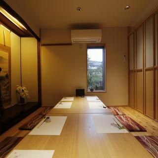 掘りごたつやテーブル席の個室