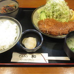 とんかつ 和 - 料理写真:ロースとんかつ定食!