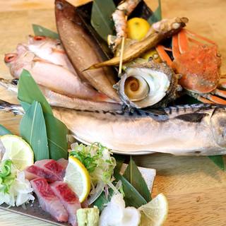 鳥取直送の海鮮料理