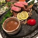 旬魚菜 ひだまり - イベリコ豚厚切りステーキ♪