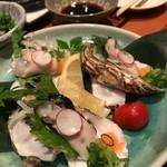 旬魚菜 ひだまり - 生カキポン酢♪
