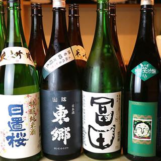 約30種類!種類豊富な地酒