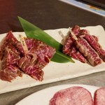 炭火焼肉 楽 - 和牛ハラミと短角牛ハラミ
