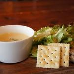 尾道WHARF - スープとサラダのプレート