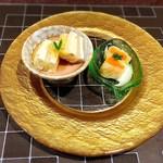 ステーキ なかお - わさび仕立てのサーモンと白菜のミルフィーユ