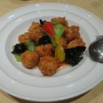 60130507 - 白身魚と豆腐のやわらか煮団子(1,200円)                       味付けは甘酸っぱくしてある。これまた美味しい。