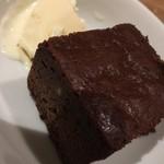 バーベキュー&カフェ ケーニッヒ - 2016.12少な目コース デザートのブラウニー