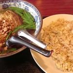 嘉興飯店 - 塩台湾ラーメン+炒飯