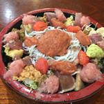 ゆたか寿司 - 日替り海鮮丼のねたダブル 税込560円