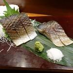 九州 熱中屋 - 炙り〆さば刺し厚切り1,280円(税抜)一切れ280円!
