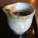 わらび奄 - 丹波黒豆きな粉 と 和三盆のソース