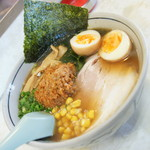 つけ麺 大雄 - 辛しラーメン(800円)+味付玉子(ホットペッパークーポン)2016年12月