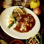 【CURRY SHOP】円山教授。 - 野菜とポークのカレー【¥1080】