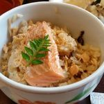 日本料理 華雲 - 鮭炊き込みご飯