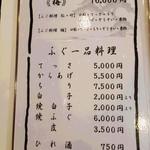 一富士 - 2016.12.メニュー
