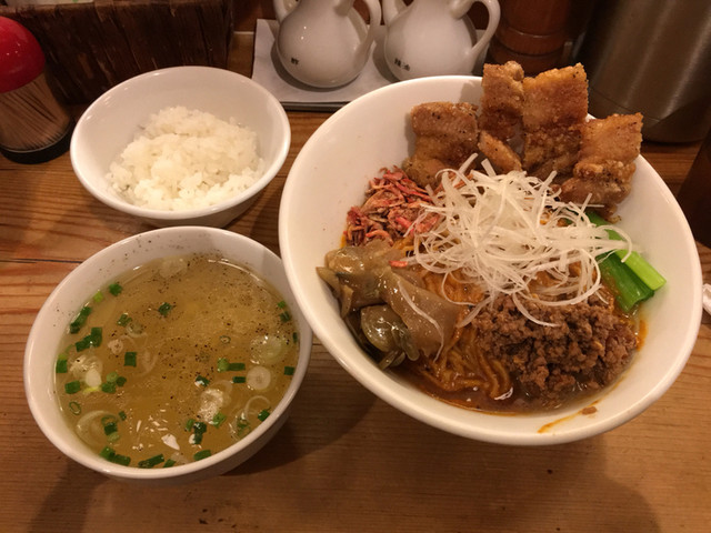 担々麺 ほおずき - 汁なし担々麺中盛り特辛+排骨