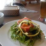 カサファミリア - セットのサラダ・スープ・ドリンク