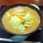 月山水沢温泉館 - 料理写真:味噌ラーメン(550円)