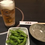 丹後の味処 山海屋 - 料理写真:ビール 枝豆
