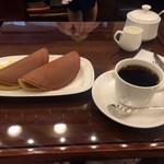 文明堂茶館 ル・カフェ - パステル コーヒーセット