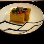 蕎麦割烹  倉田 - 先付け『あん肝の卵豆腐』