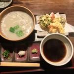 蕎舎 - 天ぷら付 釜あげ風そば(1850円)