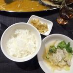 瑞雪 - 5品コース@5,400円ご飯とザーサイ