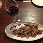 創作料理 キッチン レンガ - 猪肉のソテー、オーガニック赤ワイン