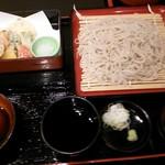 結喜庵 - 野菜天そば(笙幻) 1,580円