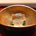 臼杵ふぐ 山田屋 - 蟹と小松菜の胡麻和え
