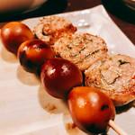 串皇 - 『うずら卵の燻製、しそ巻』様(150円、160円)うずらの燻製の香ばしい香りがシュワシュワ追加・・・いやいや~品ぞろえ豊富な日本酒に移行してしまったww