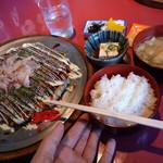味のシマダ - 関西風お好み焼き定食¥750