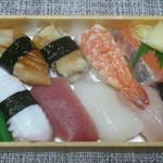 大漁寿し - 料理写真:にぎり寿し(エコノミーセット)750円