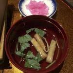 門前茶屋 成る口 - お吸い物 + 漬物小鉢