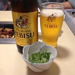 上州ホルモン - エビス瓶