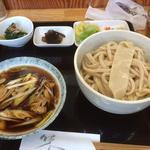 うどん弥 根古坂 - 料理写真:肉汁糧うどん \800 + 大盛り \200
