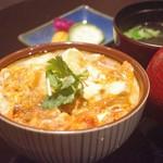 地鳥料理 万徳 別亭 安東 - 地鶏卵の親子丼