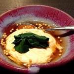 神楽坂 鉄板焼 中むら - ズワイガニと小エビのクリーム煮、那間ゆばとちぢみほうれん草、話出汁庵と共に!和と洋の融合でした~♪