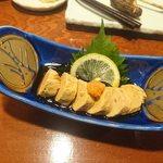 やきとり山平 - アンコウ肝 ネットリの食感が美味い!