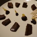 Dining Bar SelVaggio - パティシエ特製カクテルチョコ盛り合わせ
