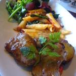 ベネレ - ワンプレートサラダ(鮪のマリネ、ペンネトマトソース、ポークヒレ肉ソテー)